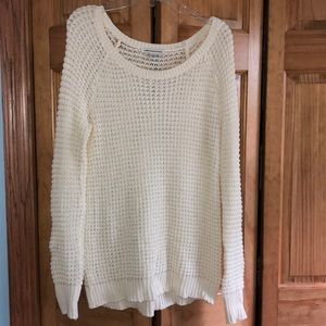 AEO white, knit sweater